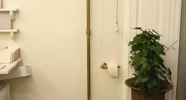 Högspolande Toalett i Champagne / Brons