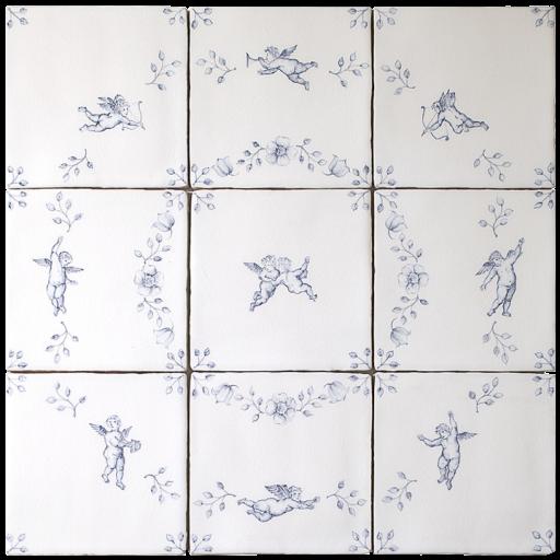 Amorini 9 tile Panel