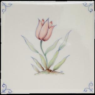 Flerfärgad Delft Flower 1