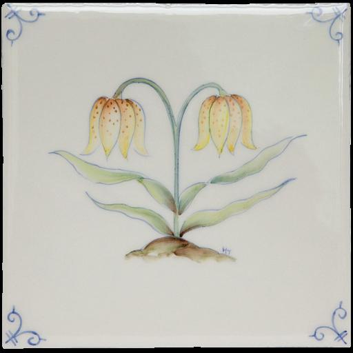 Flerfärgad Delft Flower 3