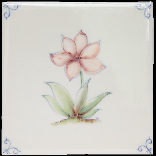 Flerfärgad Delft Flower 4