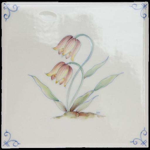 Flerfärgad Delft Flower 5