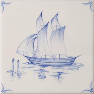 Klassisk Delft Ships & Landscapes 1
