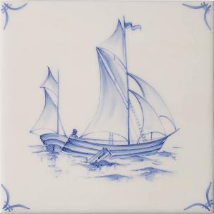 Klassisk Delft Ships & Landscapes 4