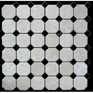 Marmor Octagonum Bianco Carrara Nero Marquina