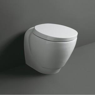 Bohémien toalett mot vägg golvstående med vägg eller golvavlopp