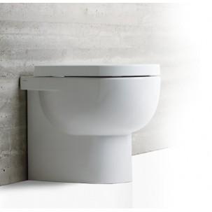 E-line golvstående vägghängd toalett mot vägg eller golvavlopp